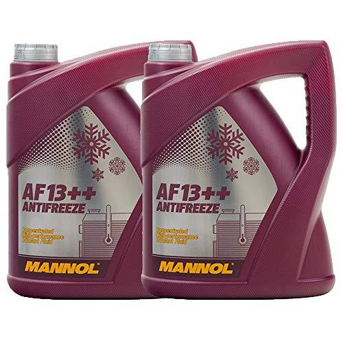 MANNOL 2 x 5 Liter AF13++ Antifreeze Kühlerfrostschutz Konzentrat Rot G13