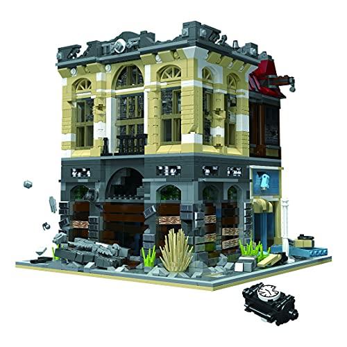 Myste Bloques de construcción modular 2835, bloques de sujeción, banco de 3 capas, estilo gótico, arquitectura europea, edificios modulares, arquitectura, modelo casa, compatible con casa Lego
