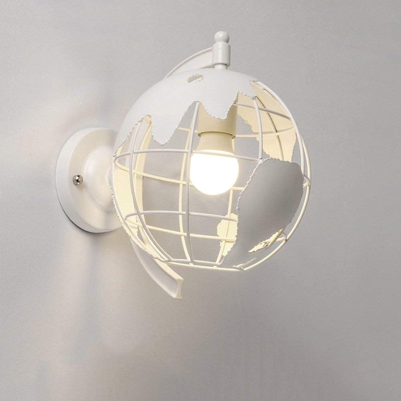 ATR Moderne Welt Wandleuchte Warme Schlafzimmer Nachttischlampe Einfache Wohnzimmer Ganglicht Balkon Dekoration Wandleuchte Wandlampen E27 (Farbe  Wei)