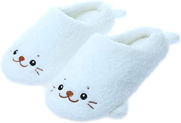 Amazon Com Millffy Cute Soft Comfy Plush Seal Slippers Sea Lion Animal Shark Whale Slipper Indoor Crocodile Home Bedroom Shoes For Adult Shoes