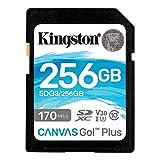 キングストン SDXCカード 256GB 最大170MB/s Class10 UHS-I U3 V30 4K Canvas Go! Plus SDG3/256GB 永久保証