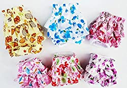 Dogs Kingdom 3Pcs Nice Dog Small Floral Diaper Skirt Female Girl Sanitary Pant Dress Underwear For Small Dogs Breed
