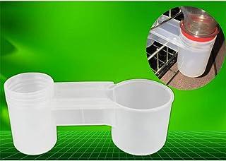 POPETPOP 20 Piezas de Bebedero de Pollo - Botella de Agua plástica de gaseosa Bebedero de pájaros Taza de alimentación de ...