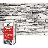 GREAT ART Photo Carta da Parati – muro di pietra bianca –rivestimento murale carta da parati in pietra decorazione design industriale – 210 x 140 cm 5 pezzi e colla
