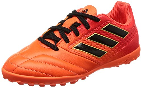 adidas Ace 17.4 TF J, Botas de fútbol Unisex niños, Solar Orange Core Black Solar Red, 28.5 EU