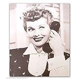 I Love Lucy Poster auf Telefonen, gerahmt, 28 x 35 cm