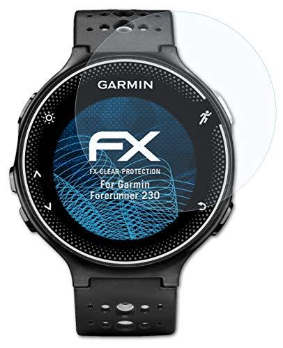 atFoliX Schutzfolie kompatibel mit Garmin Forerunner 230 Folie, ultraklare FX Bildschirmschutzfolie (3X)