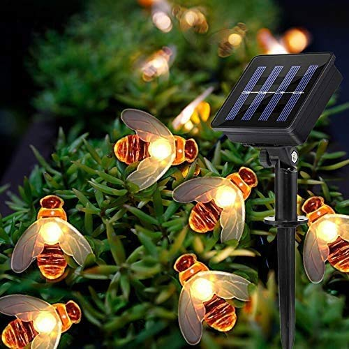 XZHFC 7m 50led Outdoor Solar Power Strings LED LED Solar Bee String Lights Impermeable Decors Lámpara Jardín Navidad Decoración De Vacaciones