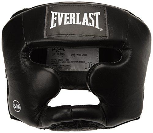 Everlast Erwachsene Boxartikel 350 Ce Leather Full Protection Headgear, Black, S