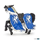 Papo 39389 Welt des MITTELALTERS Pferd des Drachenkönigs, blau, Mehrfarben