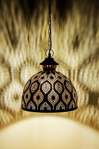 MAADES Orientalische Lampe Pendelleuchte Gold Afzal -2-32cm E27 Lampenfassung | Marokkanische Design Hängeleuchte Leuchte | Orient Lampen für Wohnzimmer, Küche oder Hängend über den Esstisch