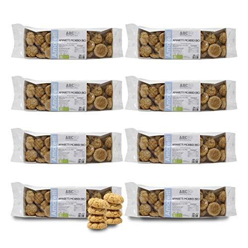 Carioni Food & Health Amaretti, Galletas de Almendra Bio - 200 gr (Paquete de 8 Piezas)