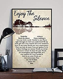 Depeche-Enjoy The Silence Lyrics Mode Heart Dance/Electronic Gift- Violator #Album Poster Home Art Wall Art Posters Prints Livingroom Kitchen-Room No Framed (24x36)