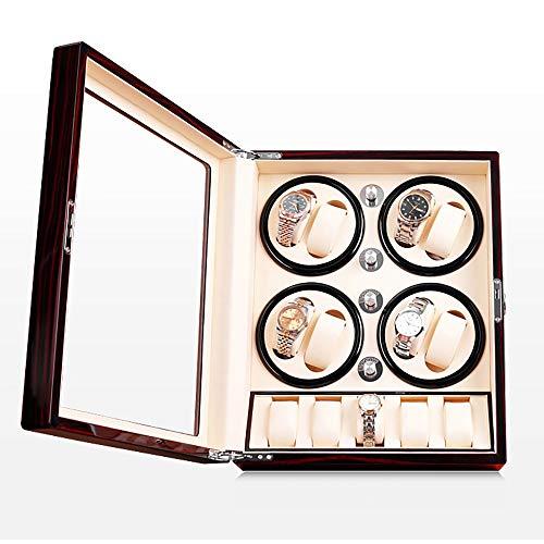 JUNPE Uhrenbeweger Fur Automatikuhren Holz Automatische Uhrenbeweger for 8 + 5 Automatikuhren Display Box Piano Lack Außen Extrem Leise Motor (Size : B1)