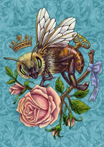 Toland Home Garden 1112465 Steampunk Bee 12.5 x 18 Inch Decorative, Garden Flag (12.5' x 18')