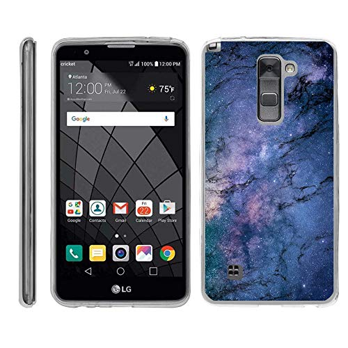 TurtleArmor | Compatible with LG Stylus 2 Case | LG G Stylo 2 Case [Flexible Armor] Flexible Slim Fitted TPU Bumper Case Cover - Marble Galaxy