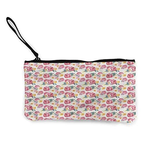 Jonquille Zipper Coin Pouch Zipper Case de Rangement Sacs cosmétiques Cartoon Tulipes Jonquilles