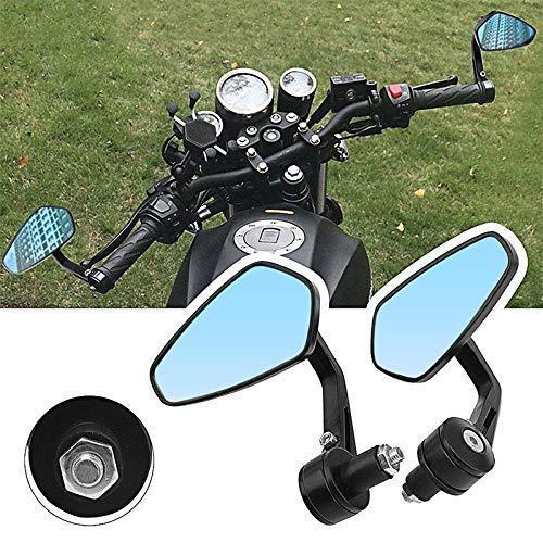 Motocicleta Vista posterior Universal Motocicleta Retrovisor Retrovisor 7/8 '22 mm Manillar negro lado Espejo trasero Accesorios de motocicleta Most Moto Instalaciones Página Accesorios de espejo LIUM