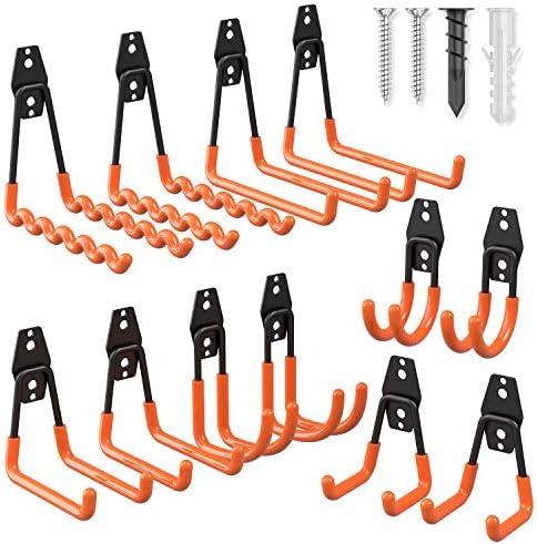 Garage Hooks Heavy Duty 12 Pack Esky Steel Garage Storage Hooks Tool Hangers for Garage Wall product image