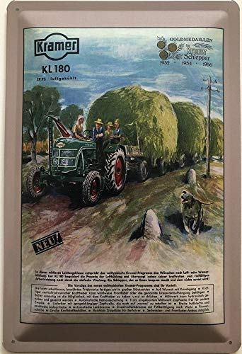 Deko7 Blechschild 30 x 20 cm Kramer KL 180 luftgekühlt 17 PS