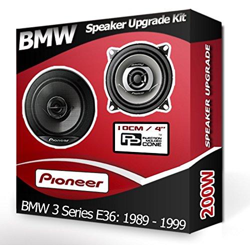 BMW 3 SERIES E36 Face arrière Étagère Haut-parleurs Pioneer 10,2 cm 10 cm Haut-Parleur de Voiture Kit de 190 W