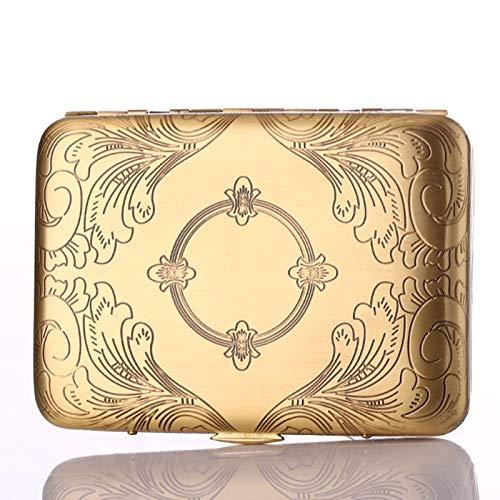 XFYJR Caja de Cigarrillos 16 Palos Personalidad Cigarrillo automático de Metal para Hombres Caja de Cigarrillos de Cobre