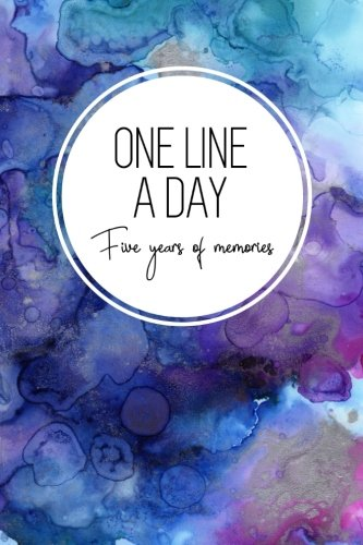 One Line a Day, Five Years of Memories: Blue Marble Ink, A Five Year Memoir, 6x9 Dated and Lined Diary (Memoir notebook)