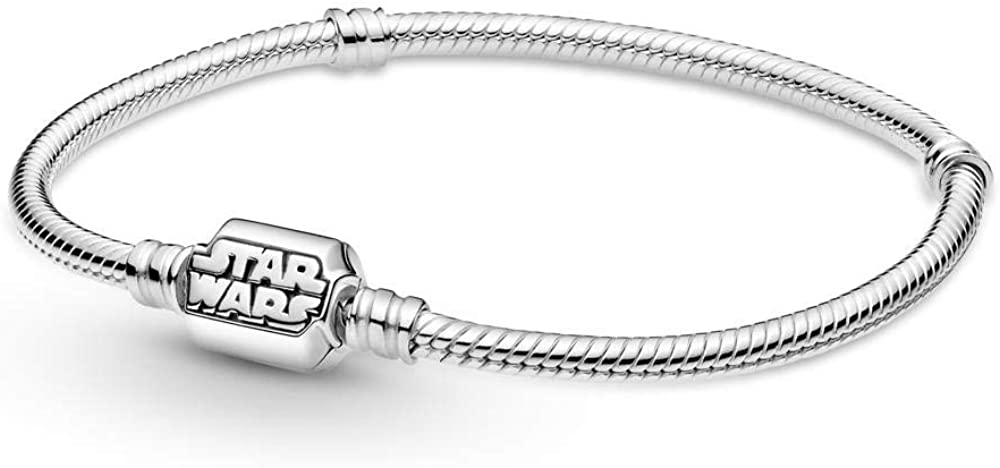Pandora bracciale da donna star wars con maglia snake in argento sterling 925, 599254C00-17