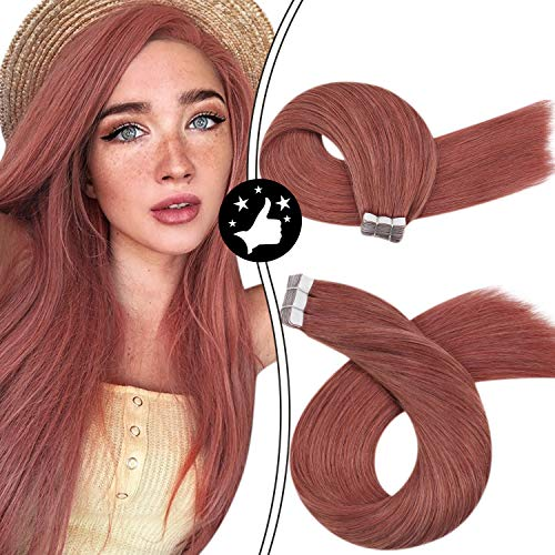 Moresoo Real Human Hair, Color #35 Rose Gold