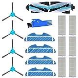 MIRTUX Kit de repuestos Conga 1290 y 1390. Pack de Accesorios de Recambio para Robots aspiradora Conga con Cepillo Lateral, Cepillo Central, mopa, Filtro y Herramienta.