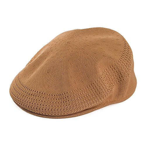 Kangol Casquette Plate en Tropic 504 Ventair Beige Sable Large