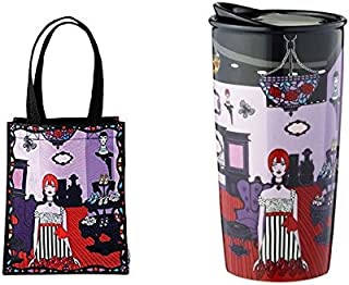 New Starbucks Anna Sui Double Wall Mug & Tote Bag Collector Limited Edition 2015