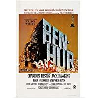 Dubdubd ベンハー映画ポスター1959年「世界で最も名誉ある映画」アートポスターキャンバス絵画家の装飾ギフト-50X75Cmフレームなし1個