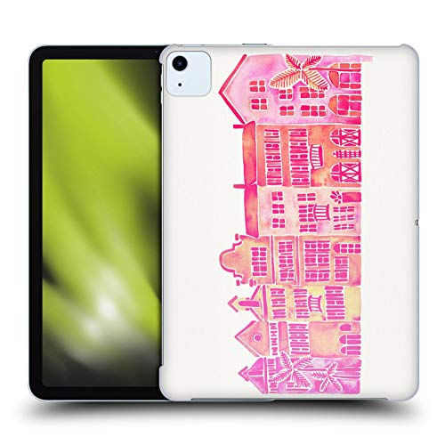 Official Cat Coquillette Pink Rainbow Row Buildings Hard Back Case Compatible for Apple iPad Air (2020)