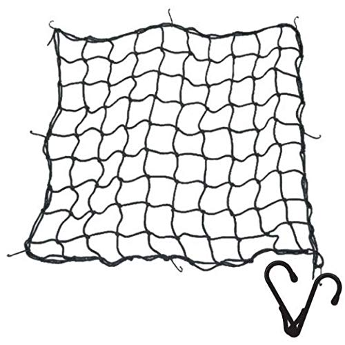 Superior Heavy Duty 9MM(3/8') Cargo Net with Steel Hooks. Must Have to Secure Heavy Valuable Cargo. Tough Elastic Bungee Cord Mesh Design Makes it Essential Gear for Pick-ups, SUVs, 4x4s and Trailers
