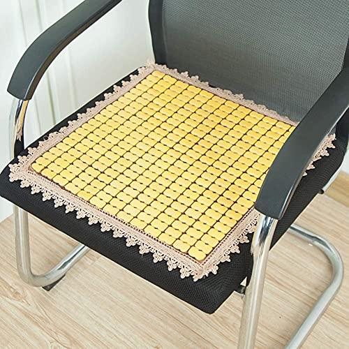 XYSQWZ Cojín Cuadrado Antideslizante para Asiento, cómodo cojín para Silla, cojín para Silla para Interior y Exterior Cool Pad-Brown 45x130cm (18x51inch)