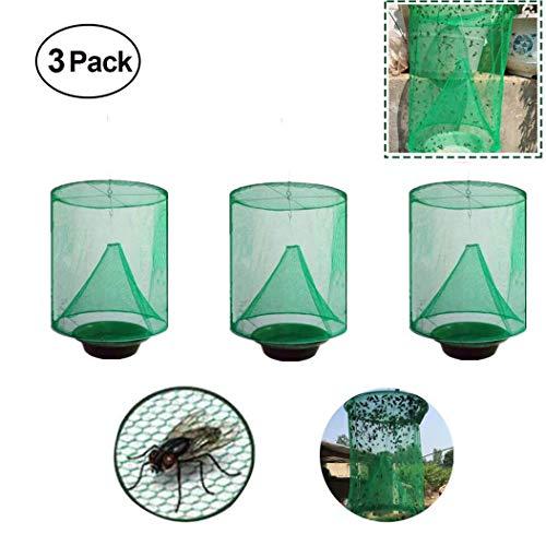 Atrapador de Moscas de Rancho, Reutilizable y Duradero Trampa de Moscas Plegable No Tóxica La Trampa para Moscas Más Efectiva Ranch Cage