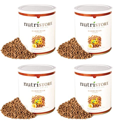 Freeze Dried Ground Beef by Nutristore   80 Large Servings   Pack of 4   Premium Quality   USDA Inspected   Amazing Taste   Perfect for Camping   Survival Food