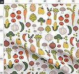 Küche, Modern, Retro, Gemüse, Druck, Essen Stoffe -