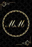 MM: Golden Monogrammed Letters, Executive Personalized Journal With Two Letters Initials, Designer Professional Cover, Perfect Unique Gift
