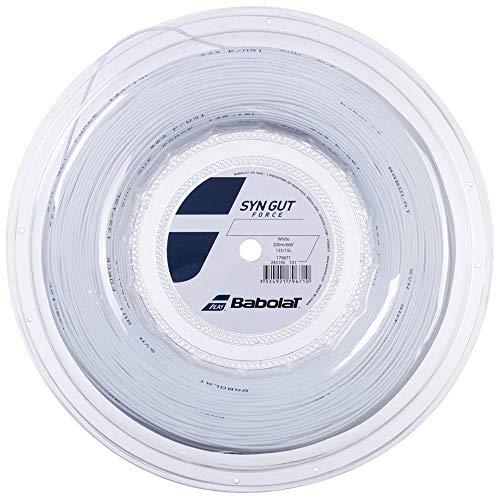 Babolat Syn GUT Force 200M Cordaje, Adultos Unisex, Blanc (Blanco), 120