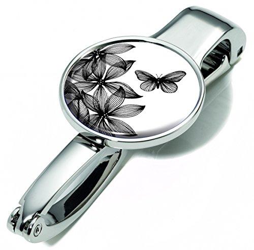Handtaschenclip und -halter mit Dekor - #BGH03-A152 - Metall - glänzend - Motiv: