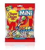 Chupa Chups Mini, Caramelo con Palo de Sabores Variados, 20 x 6 g