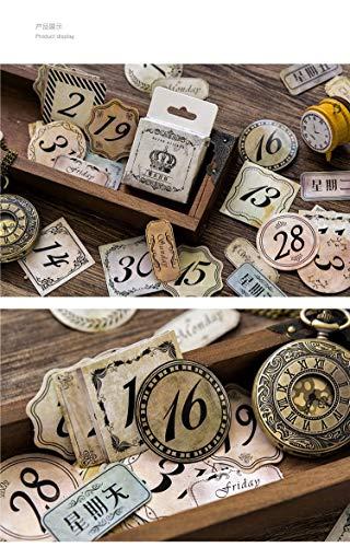 SFFSMD stickers, datum, boksed, knutselen, scrapbooking, papier, retro