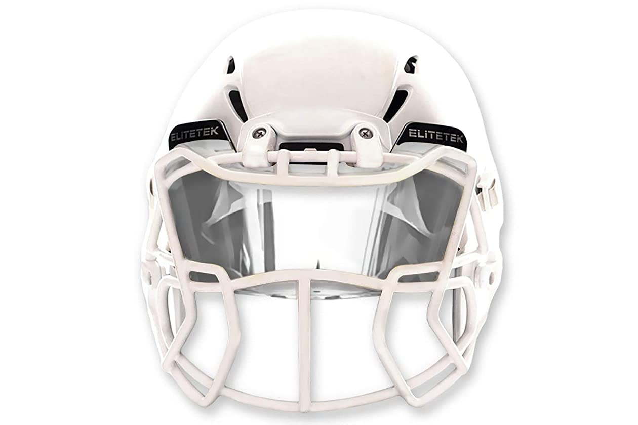aabeac2a Amazon.com : EliteTek Clear Football Visor Eyeshield Universal : Sports &  Outdoors