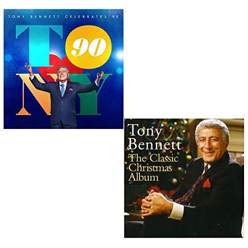 Tony Bennett Celebrates 90 (Greatest Hits) - Classic Christmas Album - Tony Bennett 2 CD Album Bundling