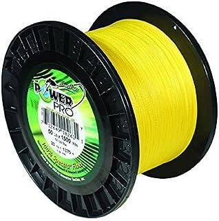 Power Pro 33401001500Y Maxcuatro Braided Fishing Line, 100 lb/1500 yd, Hi-Vis Yellow