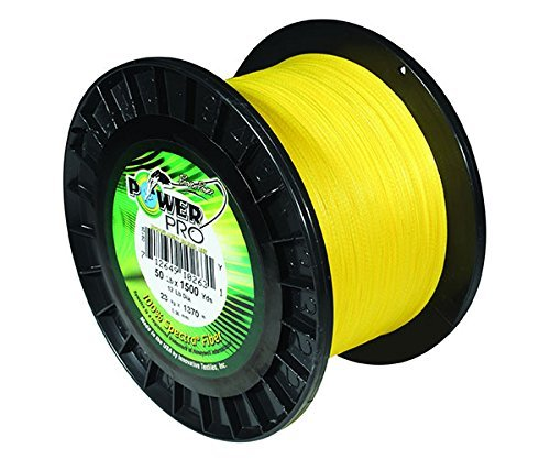 Power Pro 21100100500Y Braided Spectra Fiber Fishing Line, 10 lb/500 yd, Hi-Vis Yellow