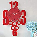 MOCHENG - Reloj de pulsera creativo de moda, diseño de mancuernas, color rojo