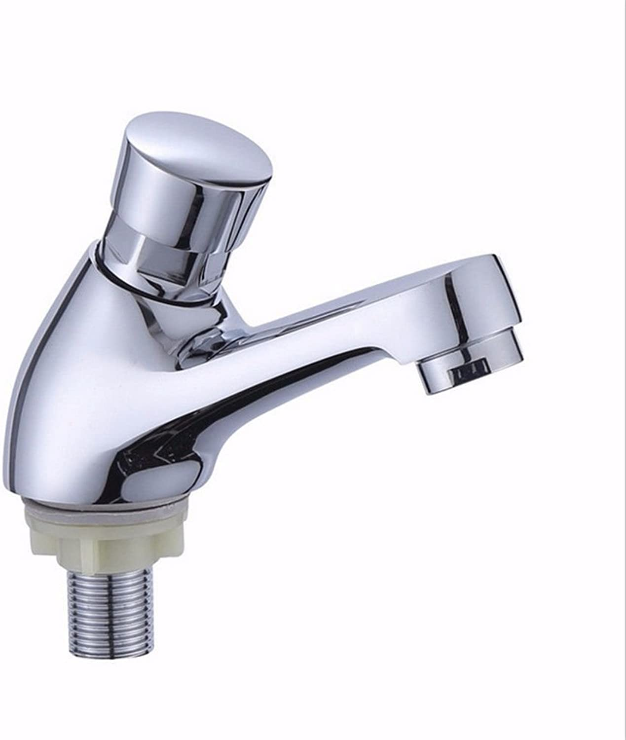 LIANTIAN Copper Single Hole Single Cold delay Basin Faucet????Kitchen Bathroom Bathroom Basin Faucet Simple Environmental Predection Energy Saving Low Lead Bathroom Sink Taps